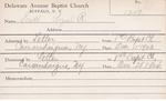 Scott, Mr. Royal R by Delaware Avenue Baptist Church