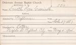Smith, Mr. Garrierlo by Delaware Avenue Baptist Church