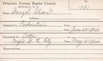 Stengel, Mr. Chas (Charles) by Delaware Avenue Baptist Church