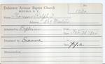 Thomson, Mr. Ralph by Delaware Avenue Baptist Church