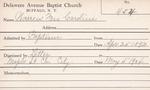 Warren, Ms. Caroline by Delaware Avenue Baptist Church