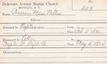 Warren, Ms. Nellie by Delaware Avenue Baptist Church