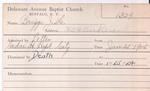 Briggs, Mr. J by Delaware Avenue Baptist Church