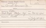 Dernell, Mr. Herman M by Delaware Avenue Baptist Church