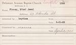 Finney, Ms. Ethel Jewel by Delaware Avenue Baptist Church
