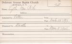 Lyth, Mrs. WH by Delaware Avenue Baptist Church