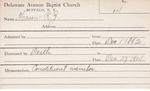 Mason, Mr. RZ by Delaware Avenue Baptist Church