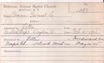 Brown, Mr. Garret by Delaware Avenue Baptist Church