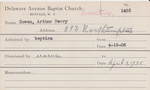 Cowan, Mr. Arthur by Delaware Avenue Baptist Church