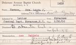 Harmon, Mrs. Laura J by Delaware Avenue Baptist Church