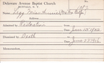 Legg, Miss. Annie by Delaware Avenue Baptist Church