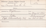 Loveu, Mrs. HC by Delaware Avenue Baptist Church