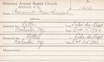 Warwood, Ms. Annie L by Delaware Avenue Baptist Church