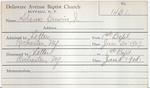 Adams, Mr. Earvin by Delaware Avenue Baptist Church