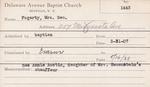 Fogarty, Mrs. George by Delaware Avenue Baptist Church