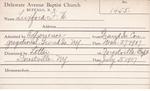 Luxford, M. FW by Delaware Avenue Baptist Church
