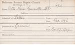 Otto, Miss. Henrietta ND by Delaware Avenue Baptist Church