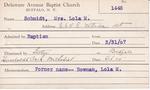 Schmidt, Mrs. Lola M by Delaware Avenue Baptist Church