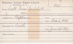 Scott, Miss. Beulah A by Delaware Avenue Baptist Church