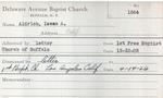 Aldrich, Mr. Isaac by Delaware Avenue Baptist Church