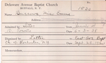 Burrows, Miss. Emma by Delaware Avenue Baptist Church