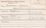 Doelman, Mr. Myron L by Delaware Avenue Baptist Church
