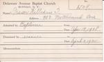 Fraser, Mr. William T by Delaware Avenue Baptist Church