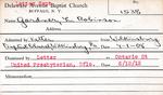 Gardner, Mr. L Robinson by Delaware Avenue Baptist Church
