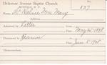 McKelvie, Mrs. Mary by Delaware Avenue Baptist Church
