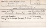 Robertson, MIss. Ruby by Delaware Avenue Baptist Church