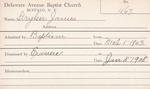Stryker, Mr. James by Delaware Avenue Baptist Church