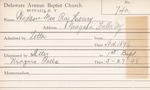 Wizson, Mrs. Roy Henry by Delaware Avenue Baptist Church