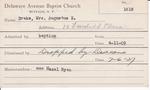 Drake, Mrs. Augustus E by Delaware Avenue Baptist Church