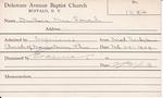 DuBois, Mrs. Sarah by Delaware Avenue Baptist Church
