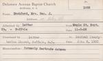 Hackford, Mrs. George J by Delaware Avenue Baptist Church