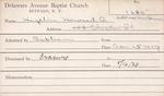 Hagelin, Mr. Howard A by Delaware Avenue Baptist Church