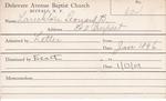 Lanckton, Mr. Leonard B by Delaware Avenue Baptist Church