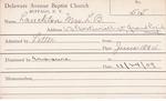 Lanckton, Mrs. Leonard B by Delaware Avenue Baptist Church