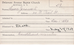 Moore, Mr. Jerome S by Delaware Avenue Baptist Church