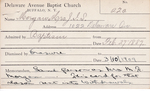 Morgan, Mrs. JS by Delaware Avenue Baptist Church