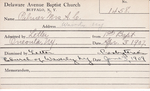 Palmer, Mrs. AC by Delaware Avenue Baptist Church