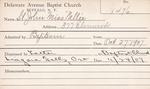 StJohn, Ms. Nellie by Delaware Avenue Baptist Church
