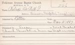 Wilcox, Mr. Dewitt G by Delaware Avenue Baptist Church