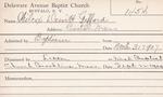 Wilcox, Mr. Dewitt Gifford by Delaware Avenue Baptist Church