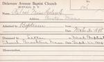 Wilcox, Ms. Helen E by Delaware Avenue Baptist Church
