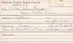 Wilcox, Mr. Julius by Delaware Avenue Baptist Church