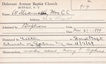 Williamson, Mrs. CC by Delaware Avenue Baptist Church