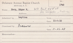 Harp, Mr. Edgar W by Delaware Avenue Baptist Church
