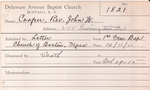 Cooper, Rev. John