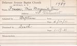 Fraser, Miss. Marguerite Jane by Delaware Avenue Baptist Church
